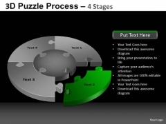 PowerPoint Layouts Diagram Pie Chart Puzzle Process Ppt Slides