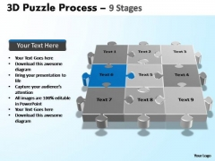 PowerPoint Layouts Download Puzzle Process Ppt Designs