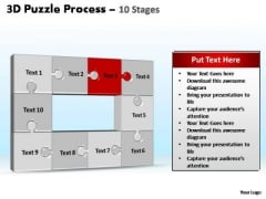 PowerPoint Layouts Download Puzzle Process Ppt Template
