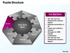 PowerPoint Layouts Editable Puzzle Structure Ppt Themes