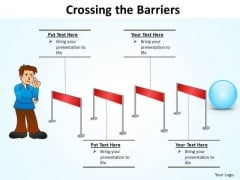 PowerPoint Layouts Education Crossing The Barriers Ppt Template