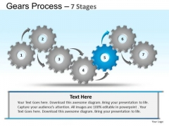 PowerPoint Layouts Education Gears Process Ppt Presentation