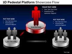 PowerPoint Layouts Education Pedestal Platform Showcase Ppt Slides