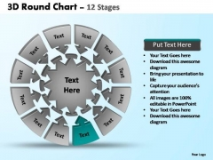 PowerPoint Layouts Education Pie Chart With Arrows Ppt Backgrounds