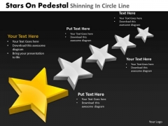 PowerPoint Layouts Global Pedestal Shinning Ppt Slides