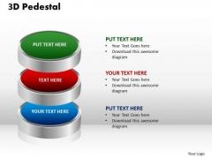 PowerPoint Layouts Growth 3d Pedestal Ppt Slides