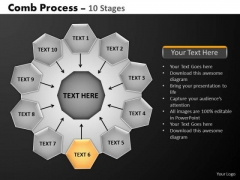 PowerPoint Layouts Growth Hub And Spokes Process Ppt Templates