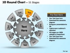 PowerPoint Layouts Image Pie Chart With Arrows Ppt Slide