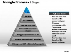 PowerPoint Layouts Leadership Triangle Process Ppt Designs