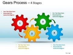 PowerPoint Layouts Marketing Gears Process Ppt Template