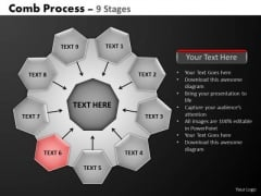PowerPoint Layouts Marketing Hub And Spokes Process Ppt Slide Designs