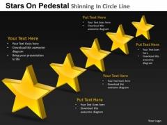 PowerPoint Layouts Marketing Pedestal Shinning Ppt Layouts