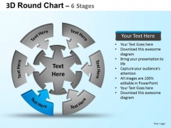 PowerPoint Layouts Marketing Round Process Flow Chart Ppt Backgrounds