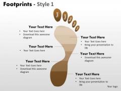 PowerPoint Layouts Process Footprints Ppt Presentation