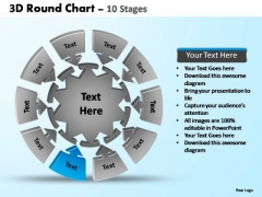 PowerPoint Layouts Process Pie Chart With Arrows Ppt Presentation
