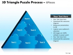 PowerPoint Layouts Process Triangle Puzzle Ppt Themes