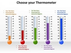 PowerPoint Layouts Sales Choose Your Thermometer Ppt Slide