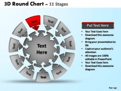 PowerPoint Layouts Sales Pie Chart With Arrows Ppt Templates