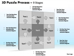 PowerPoint Layouts Sales Puzzle Process Ppt Presentation