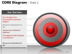 PowerPoint Layouts Strategy Core Diagram Ppt Design