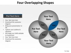 PowerPoint Layouts Strategy Four Overlapping Ppt Theme