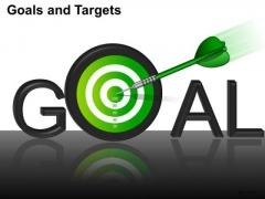 PowerPoint Layouts Strategy Goals And Targets Ppt Theme