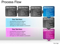 PowerPoint Layouts Strategy Process Flow Ppt Themes