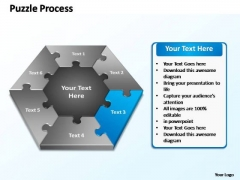 PowerPoint Layouts Strategy Puzzle Process Ppt Presentation
