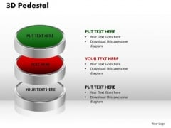 PowerPoint Layouts Success 3d Pedestal Ppt Presentation