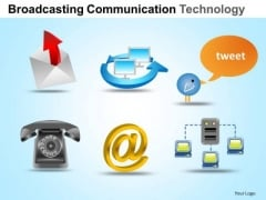PowerPoint Layouts Success Communication Technology Ppt Design