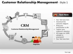PowerPoint Layouts Success Customer Relationship Management Ppt Slides
