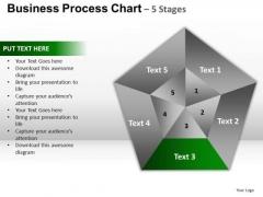 PowerPoint Layouts Success Pentagon Pie Chart Ppt Slides