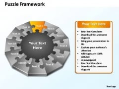 PowerPoint Layouts Success Puzzle Framework Ppt Designs