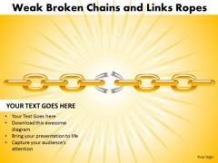 PowerPoint Layouts Success Weak Broken Chains Ppt Themes