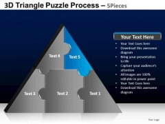 PowerPoint Layouts Teamwork Triangle Puzzle Ppt Slides