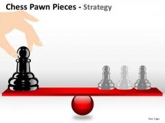 PowerPoint Leadedrship Balance Chess Pawn Ppt Slide Designs