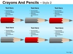 PowerPoint List Crayons Education School Ppt Slide