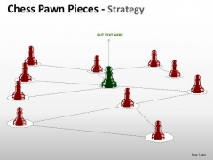 PowerPoint Network Diagram Chess Pawn Ppt Process