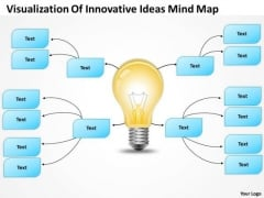 PowerPoint Org Chart Visualization Of Innovative Ideas Mind Map Templates