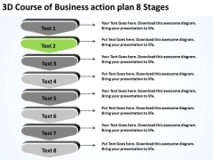 PowerPoint Presentation Action Plan 8 Stages Business Continuation Templates