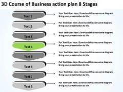 PowerPoint Presentation Action Plan 8 Stages Business Layouts Slides