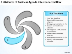 PowerPoint Presentation Agenda Interconnected Flow Ppt Software Business Plan Templates