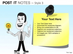 PowerPoint Presentation Business Education Post It Notes Ppt Slide