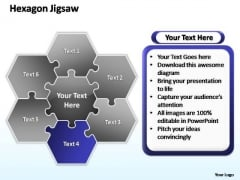 PowerPoint Presentation Chart Hexagon Jigsaw Ppt Backgrounds