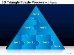 PowerPoint Presentation Chart Triangle Puzzle Ppt Theme