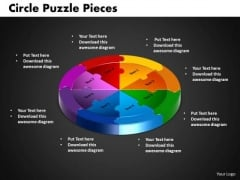 PowerPoint Presentation Circle Puzzle Company Ppt Template