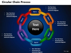 PowerPoint Presentation Circular Chain Process Download Ppt Slide Designs