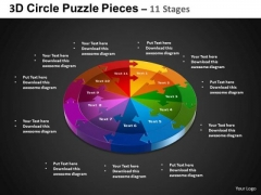 PowerPoint Presentation Circular Process Circle Puzzle Diagram Ppt Theme