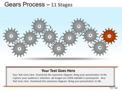PowerPoint Presentation Company Gears Ppt Template