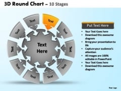 PowerPoint Presentation Company Pie Chart With Arrows Ppt Backgrounds